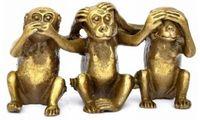 FENG SHUI Three wise monkeys hear see speak no evil 3 monkey