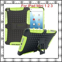 Slim Armor Tough Shockproof Case Heavy Duty Hybrid Rugged TPU+PC Hard Stand Bracket Robot Cover For iPad Mini 1 2 3