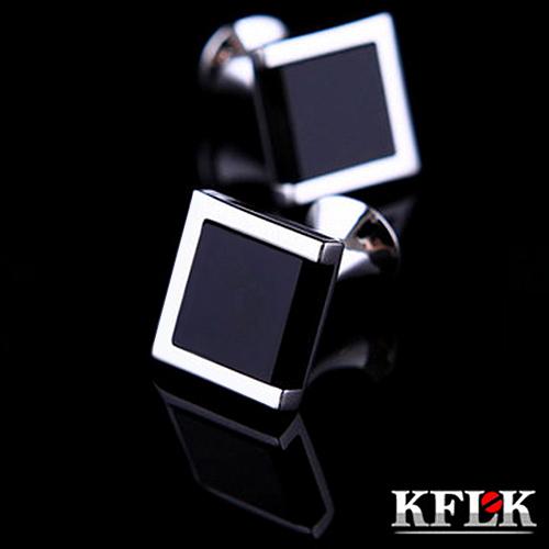KFLK Luxury HOT shirt cufflinks for men's Brand cuff bouton de manchette Black cuff link High Quality abotoaduras Jewelry(China (Mainland))
