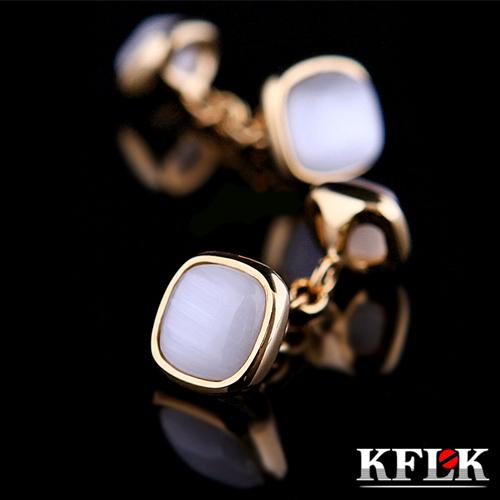 KFLK Luxury HOT shirt cufflinks Wedding Brand cuff buttons Gold Chain cuff links High Quality Unisex abotoaduras Jewelry(China (Mainland))