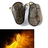Motorcycle Motorbike LED Flush Mount Blinker Smoke Turn Signals Indicators for Yamaha YZF R6 99 2000 2001 2002 2003