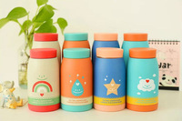 Free shipping ! 260ml 350ml Stainless steel vacuum flask kids water bottle  thermos kettle Pink blue Orange