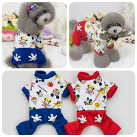 Free Shipping Winter Autumn New Pet Dog Jumpsuits Dog Fleece Clothing Teddy Poodles Clothes XS S M L XL