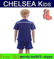 A+++ Top Thailand Chelsie Kit Thai Kids Child 14 15 Chelse Jersey Shirt Chandal Sweatshirt HAZARD Diego Casta OSCAR