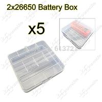 5pcs/lot High Quality New Soshine 2-Channel 26650 Battery Storage Box 2x26650 Battery Case Holder