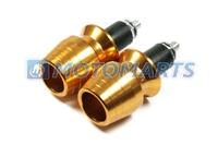 Gold Bar End Plugs for 22mm Motorcycles handle bar CBR RR ZZR ZX Ninja GSX R