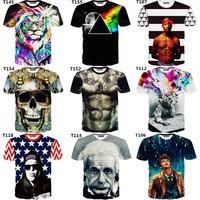 [Magic] Newest style 3d t shirt men tshirt both side print good quality men's 3D tshirts Hot models casual t-shirts free ship
