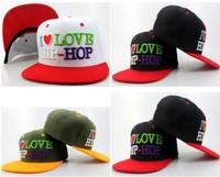 I Love Hip-Hop Snapback Baseball Cap Vogue Letter Pattern Popular Fashion Trend Adjustable Snapback Baseball Hat Cap