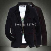 2015 new Man full cotton long-sleeved suit plus size 4XL 5XL fashion  outwear Leisure suit men blazer  333