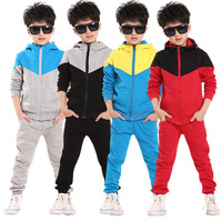 2014 new autumn winter Children Tracksuit casual kids clothes sets boys and girls hoodies+trousers