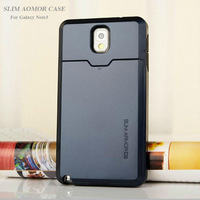Korean SUPER SLIM ARMOR Damda Slide Protective Hard Back Cover Case For Samsung Galaxy Note III Note3 N9000 Phone Free Shipping