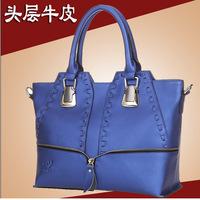 2014 HOT  fashion BAG leisure trade leather women bag brand bags leather diagonal shoulder bag women special postage