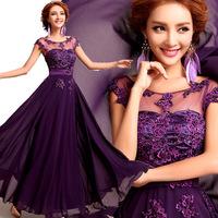 Evening dress long design the banquet evening dress 2014 slim red bridesmaid bride dress