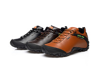 Free Shipping hiking shoes women/men genuine leather shoes hunting outventure climbing terrking shoes non-slip breathable shoes