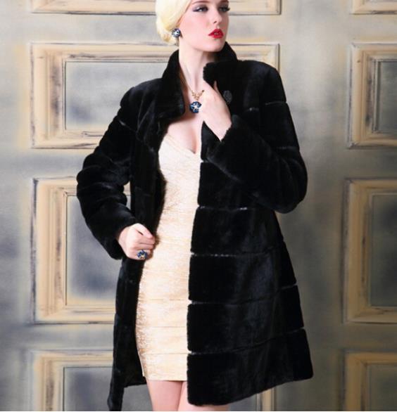 Fashion 2017 durban july - New 2015 Real Natural Brand Women Mink Fur Coat Water Mink