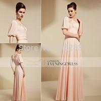 30858 top quality design Pink Girl One Shoulder Long Dress Evening Party Dress elegant Dress 1pc+free shipping