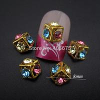 50pcs Cubic square rhinestones Glitter nail art decorations nail rhinestones supplies MNS772