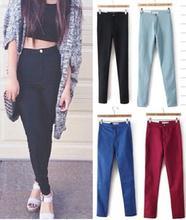 2014 mode vintage american apparel jeans frau bleistift lässigen jeans Strecken skinny hohe taille jeans hose frauen plus size(China (Mainland))