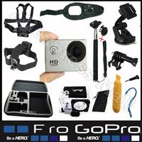Gopro Original SJ4000 Go pro Camera With Monopod Floating Bobber Tripod 360 degree Hand Strap Go-pro Case Mount Kit Accessories