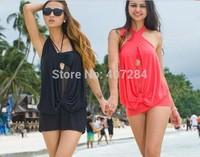 14 new Women net yarn one-pieces bigger sizes sexy swimsuit  halter swimwear