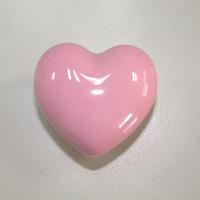 10PCS Popular heart shaped Pink ceramic knob handles cabinet pull kitchen cupboard knob kids drawer dresser knobs