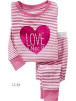 "2015 New Arrival Design  ""LOVE "" Pajamas 100% Cotton Baby Pijamas Kids sleepwear clothing Boys Pyjamas Children's wear 6set/lot"