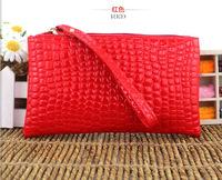 The new 2014 Miss Han Ban clutch stone pattern phone bag purse handbag patent leather zipper wallet