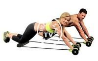 24PCS/CTN Wholesale   Empower portable pilates Waist & Abdomen Exercise Rubber String Chest Developer Pilates training