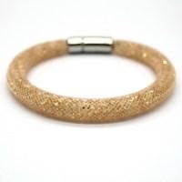 Wholesale European Style Stardust Bracelets Mesh Chain Crystal Inside Magnetic Wrap Bracelet 13 Color Choose 1 PCS Free Shipping