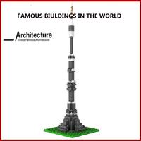 Ostankino Tower plastic pipe blocks building toys free shipping