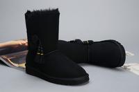 Australia black free shipping 2014 fashion women snow boots lady fashion winter shoes winter footwear wool snow boots