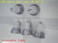 5pcs/lot  led Spotlight 3W Dimming light GU5.3 AC85-265V Super bright Spotlights lamps and lanterns wholesale