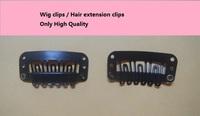 100pcs  hair extension wig weaving snap toupee clips 3.2cm