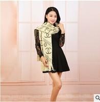 2014 fashion super soft feel of silk scarf shawl dual wild street adult women warm scarf necessary