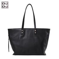DUDU genuine leather bag fashion one shoulder messenger bag women's handbag