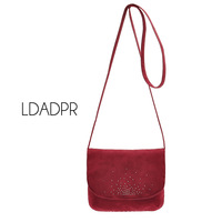 Small single flannelet women's Wine red shoulder bag small bags