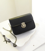 2014 small bags fashion candy color vintage lock messenger bag mobile phone coin purse