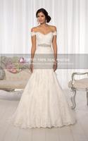 Super Hot Sale mermaid wedding dresses 2014 luxury appliques on vestido de novia  ztc4