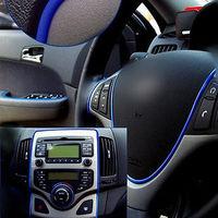DIY Car Interior Decoration MOULDING Trim Decorative Strip Blue color Line 5m