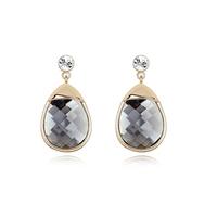 new brand design fashion woman Bestsellers 18K gold earrings glass earrings drops OL gourd toot 94900