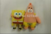 Free shipping 4GB 8GB 16GB 32GB cartoon couple Spongbob +Patrick usb flash drive memory stick pen
