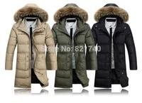 2015 new winter coat jacket big fashion casual men clothing thickening male medium-long Down & Parkas coat 3XL 4XL warm outdoor