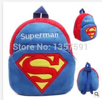 2014 nova do bebê varejo superman escola bags crianças character design mochila meninos super homem sacos de brinquedo I082(China (Mainland))