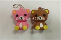 Free shipping 4GB 8GB 16GB 32GB cartoon lovely teddy bear USB 2.0 usb flash drive memory stick pen