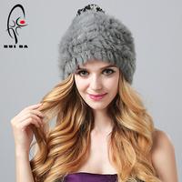 2014 Trendy Women Genuine high quality Rabbit Fur Hat Real Fur Beanie Winter Caps bomber aviator  Handmade Cute Hats