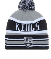 Brand  Los Angeles Kings Embroidery logos knitted Beanies Winter Ice Hockey Sports Team Skullies Hats caps Cheap For Men Women