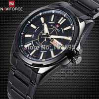 New Brand NAVIFORCE Full Steel Military Watches Men Quartz Watch 30M Waterproof Mens Sports Watch Date Clock  Wristwatch for men