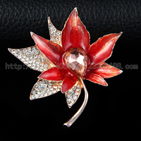 2015 new fashion alloy leaf shape personality fashion women brooch pin