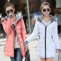 Women's cotton-padded jacket 2014 winter medium-long down cotton plus size jacket female slim ladies jackets and coats