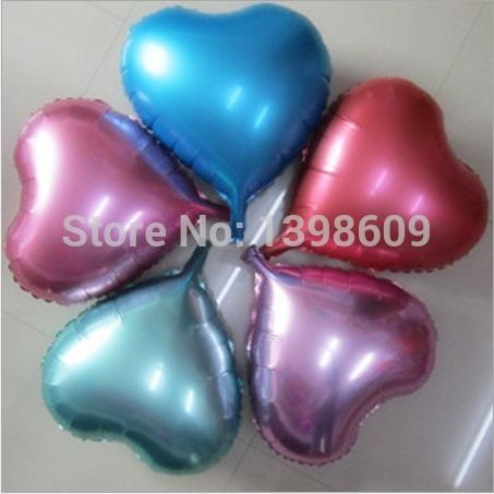 "18"" Foil Balloons Love Heart Shape Aluminum Helium Balloon Wedding Party Decoration 50PCS Free Shipping(China (Mainland))"